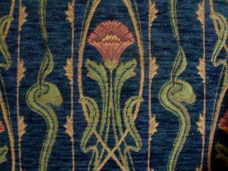 Art Nouveau Chenille Tulips Sapphire Blue Kravet Couture 24