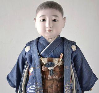 Japanese Old Ichimatsu Ningyo Boy Doll Craftman Toko Shokansai 061701 photo