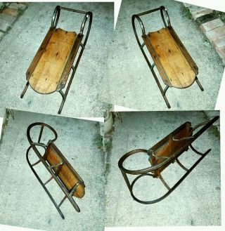 Victorian Childs Sled C.  1800s Paris Mfg.  South Paris Maine 61 photo