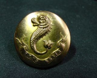 Mystery Button 3 Livery? Dolphin W Motto Bowe & Seligman Ny Circa 1900 photo