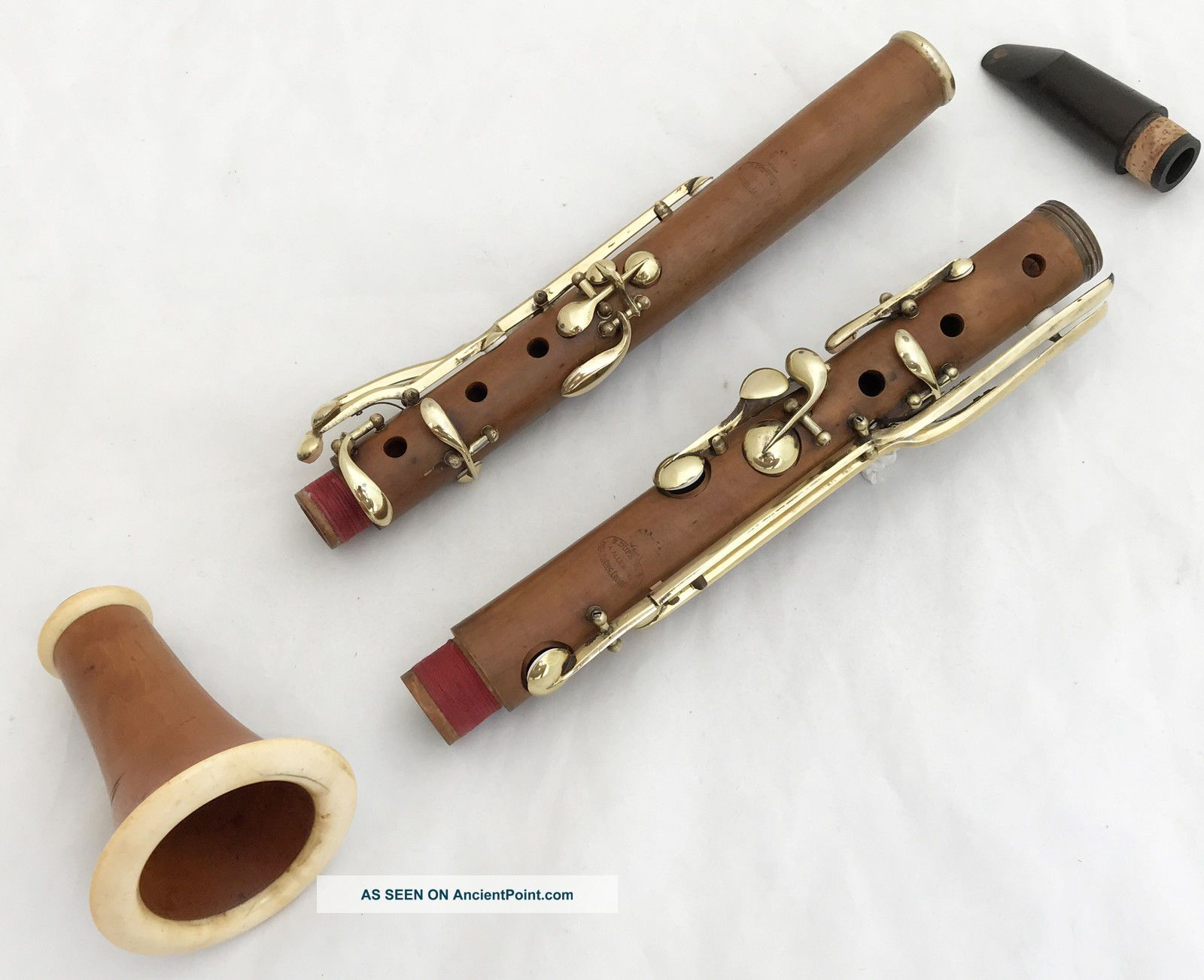 Antique French Boxwood Bb Clarinet - Dupeyrat A Allemans 440hz.  Complete Restored Wind photo