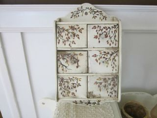 Painted Antique Spice Cupboard/6 Drawers/design. photo