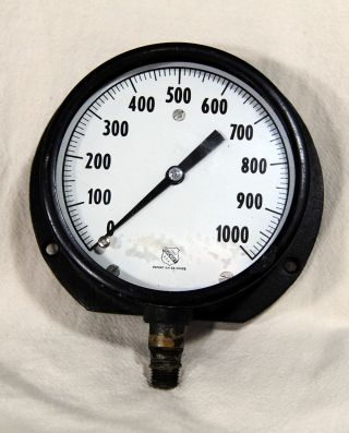 Ashcroft Gauge Pressure Water Steam Industrial Usa Steampunk Parts Old 3 Lb, photo