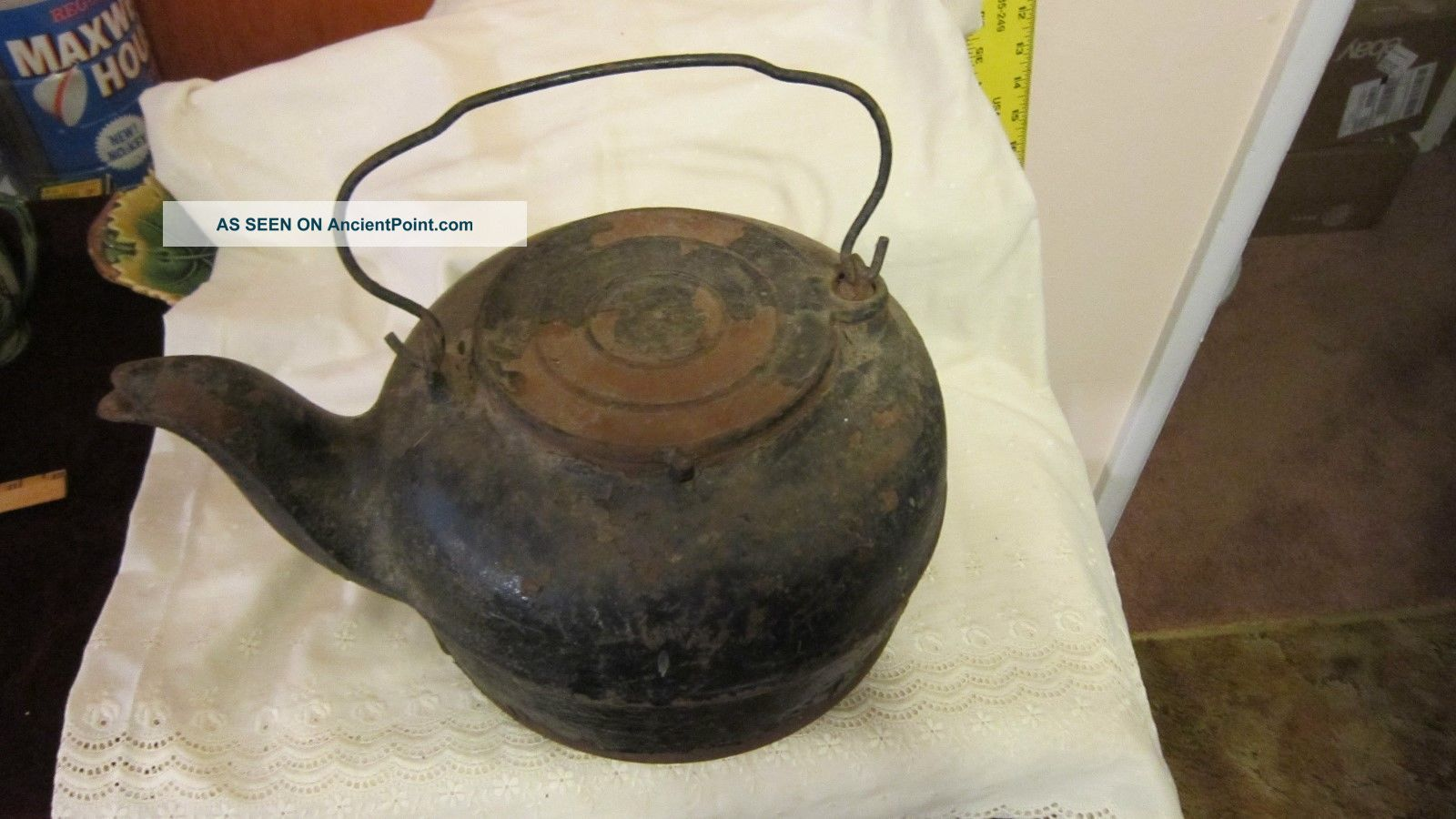 Prmitive Cast Iron Water Kettle For Wood Stove Stoves photo