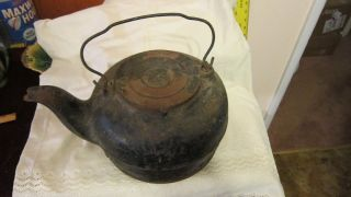 Prmitive Cast Iron Water Kettle For Wood Stove photo