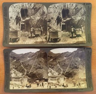 Metcalf Az Copper Mines 1903 Stereoview Photographs Arizona Mining History Photo photo