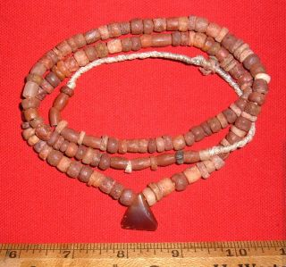 Full String Of Choice Sahara Neolithic Stone Beads Prehistoric African Artifacts photo