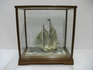 The Sailboat Of Silver980 Of Japan.  2masts.  122g/ 4.  29oz.  Takehiko ' S Work. photo