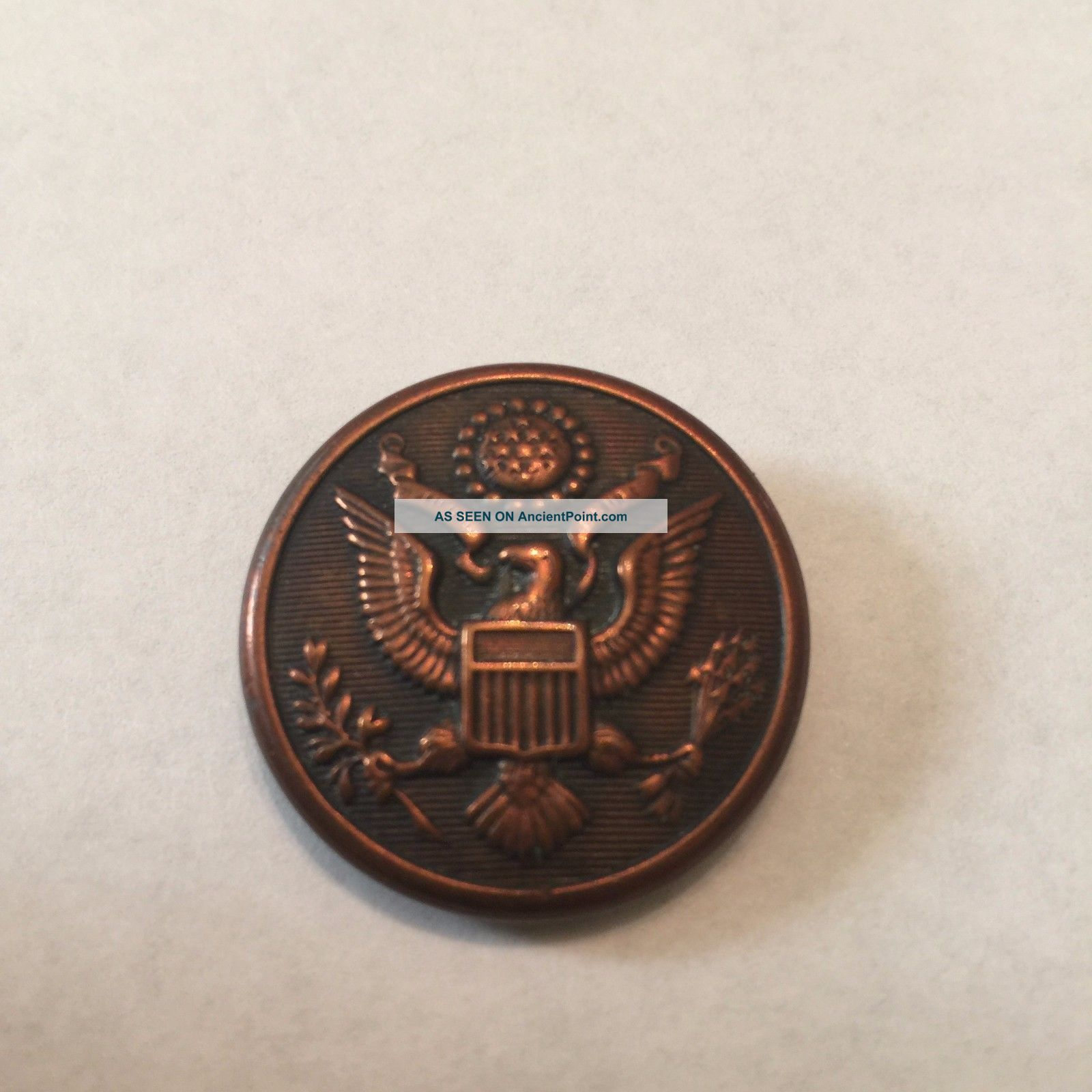 Antique Wh Horstmann Philadelphia Pa Brass Military Uniform Button Buttons photo