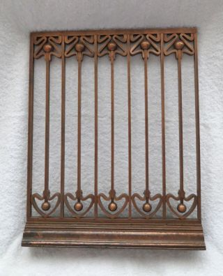 Vintage Antique Art Nouveau Copper / Brass Bank Teller Cage - Fabulous photo