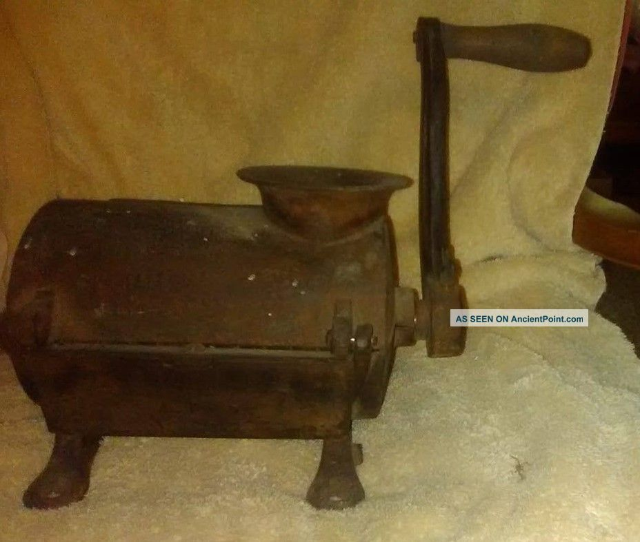 Antique Very Unusual Cast Iron Grinder For Making Sausage Meat Grinders photo