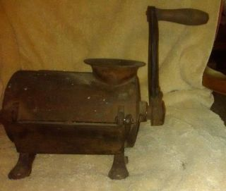 Antique Very Unusual Cast Iron Grinder For Making Sausage photo