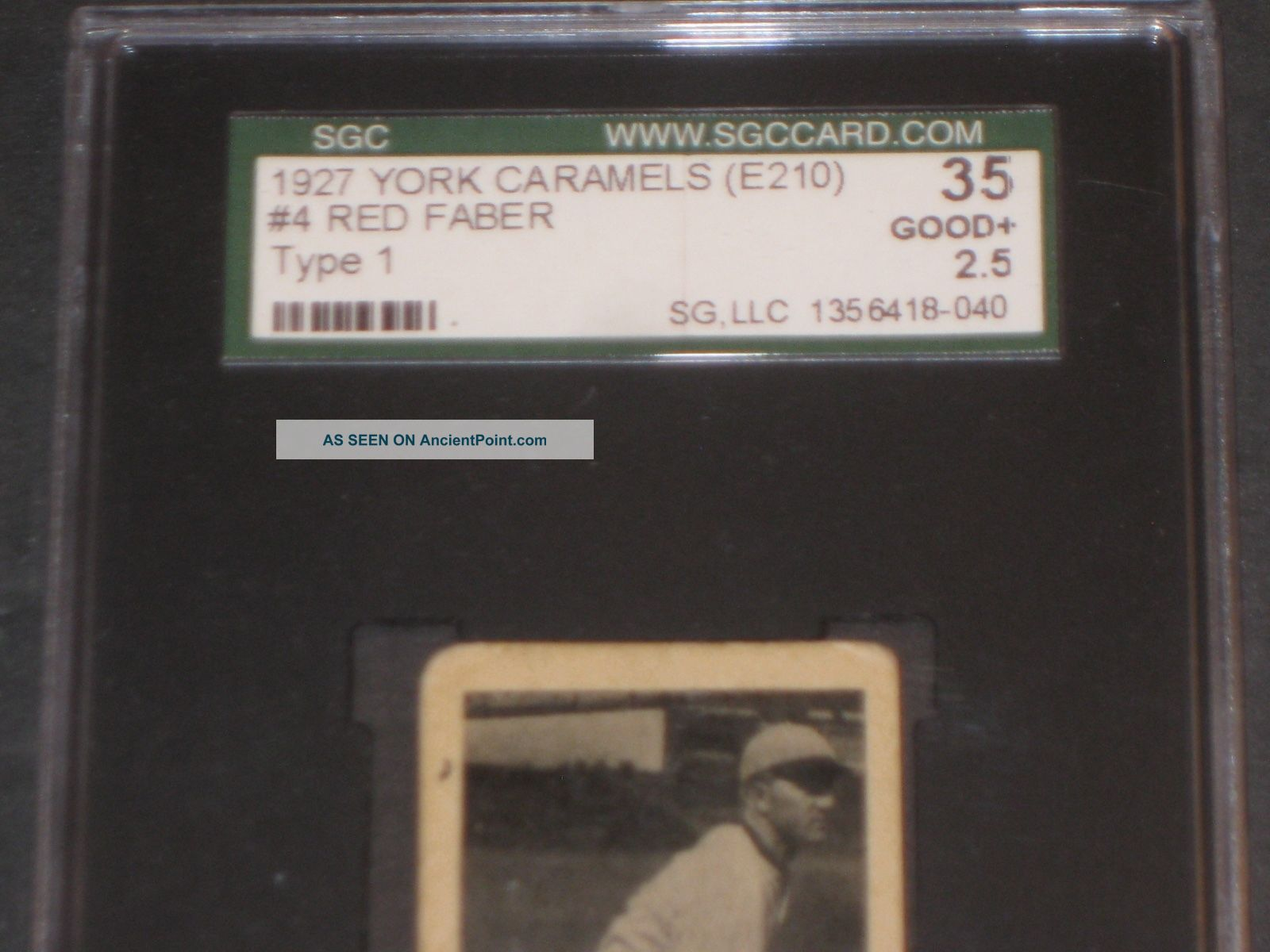 1927 E210 Red Faber York Caramel Baseball Card Sgc 35 Good,  2.  5 Antique Trading Other Antiquities photo