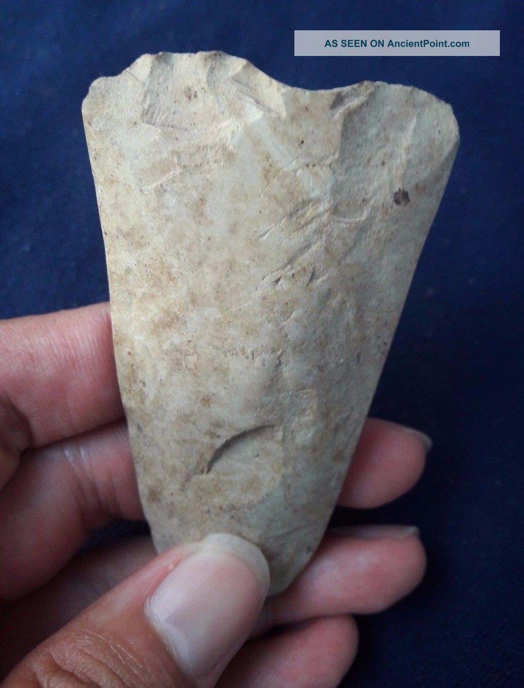 Thailand Paleolithic Hand Scarper Axe Celt Sandstone [tm82] Neolithic & Paleolithic photo