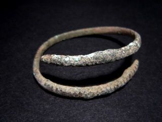 Extremely Rare Bronze Age Period Bronze Bracelet,  As Found, photo