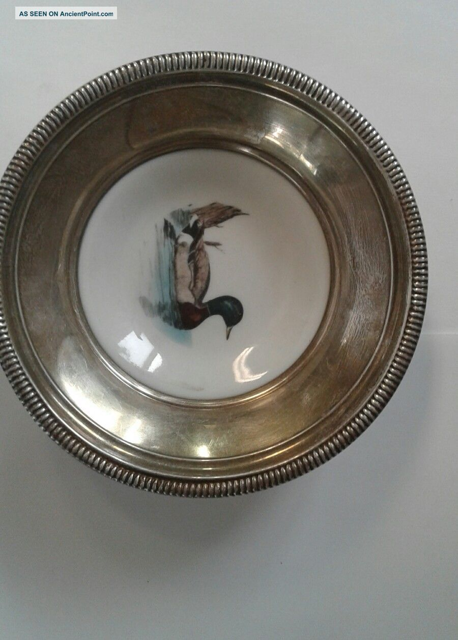 Frank Whiting Mallard Sterling Silver Coaster Dish Dishes & Coasters photo