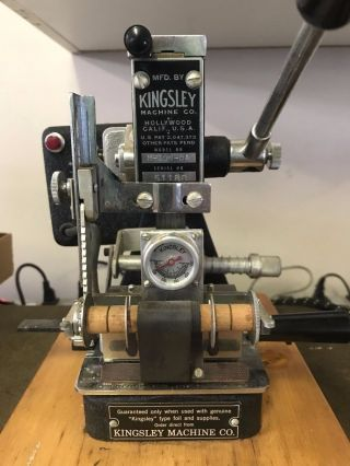 Kingsley M - 100 - Ba Hot Stamping Machine With Type photo