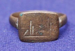 Roman Ring - Circa 200 - 400 Ad photo
