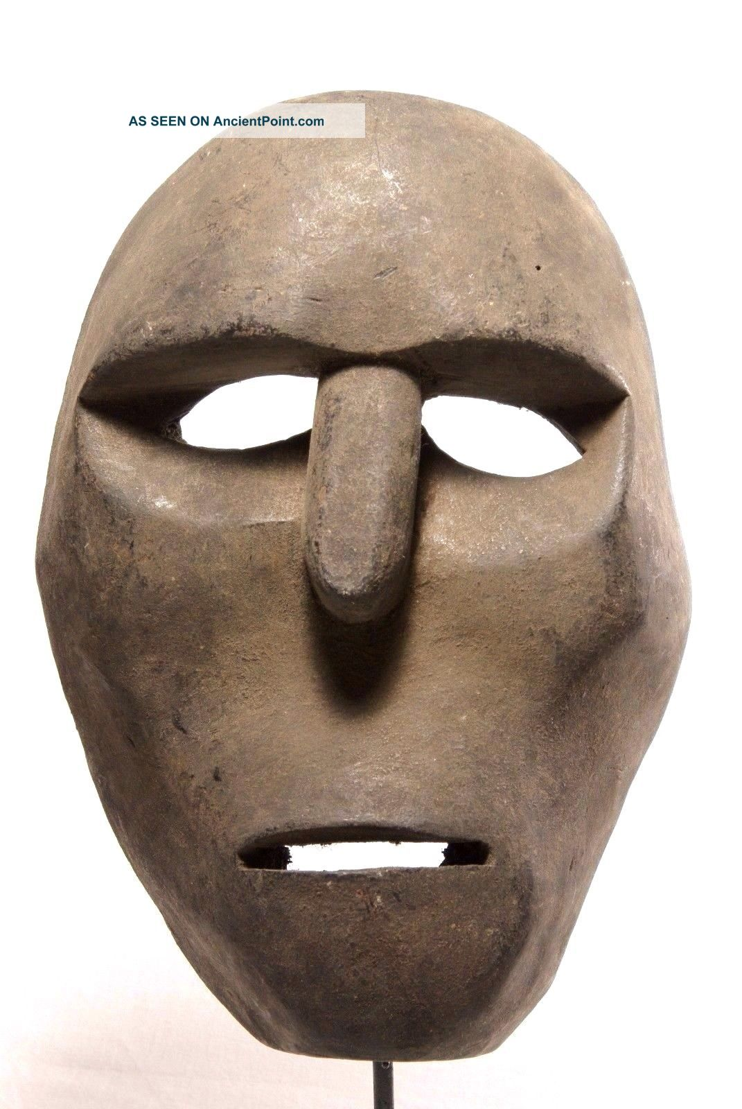 Massive Mask Blackened From Smoke - West Timor - Tribal Artifact Pacific Islands & Oceania photo