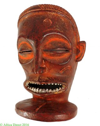 Chockwe Mask Red Mwana Pwo Congo African Art Was $320.  00 photo
