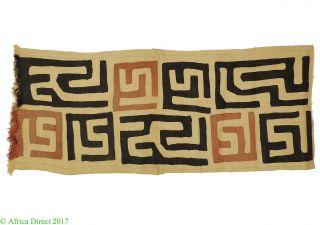 Kuba Textile Raffia Handwoven Congo African Art 39 Inch photo