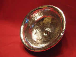 1800 - 1825 Tibetan Plannished Silver And Burlwood Tea Or Finger Bowl.  Piece. photo