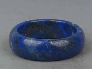 China Exquisite Hand - Carved Lapis Lazuli Bracelet photo