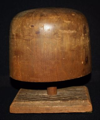 Antique/vintage Wooden Millinery Hat Form & Base,  Several Engraved Numbers, photo