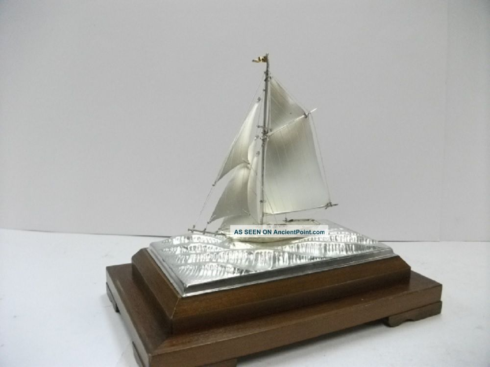 The Sailboat Of Silver985 Of The Most Wonderful Japan.  A Japanese Antique. Other Antique Sterling Silver photo