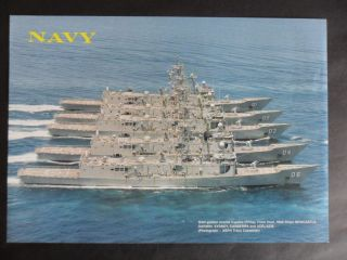 Royal Australian Navy Group Picture Of 5 Of The 6 Ffg ' S 1990 ' S photo
