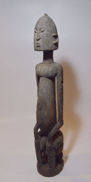 A Huge Weathered Dogon Male Ancestor Sculpture,  African Tribal Art photo