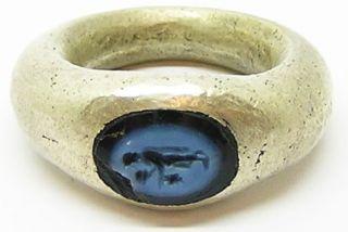 Ancient Roman Nicolo Intaglio Ring