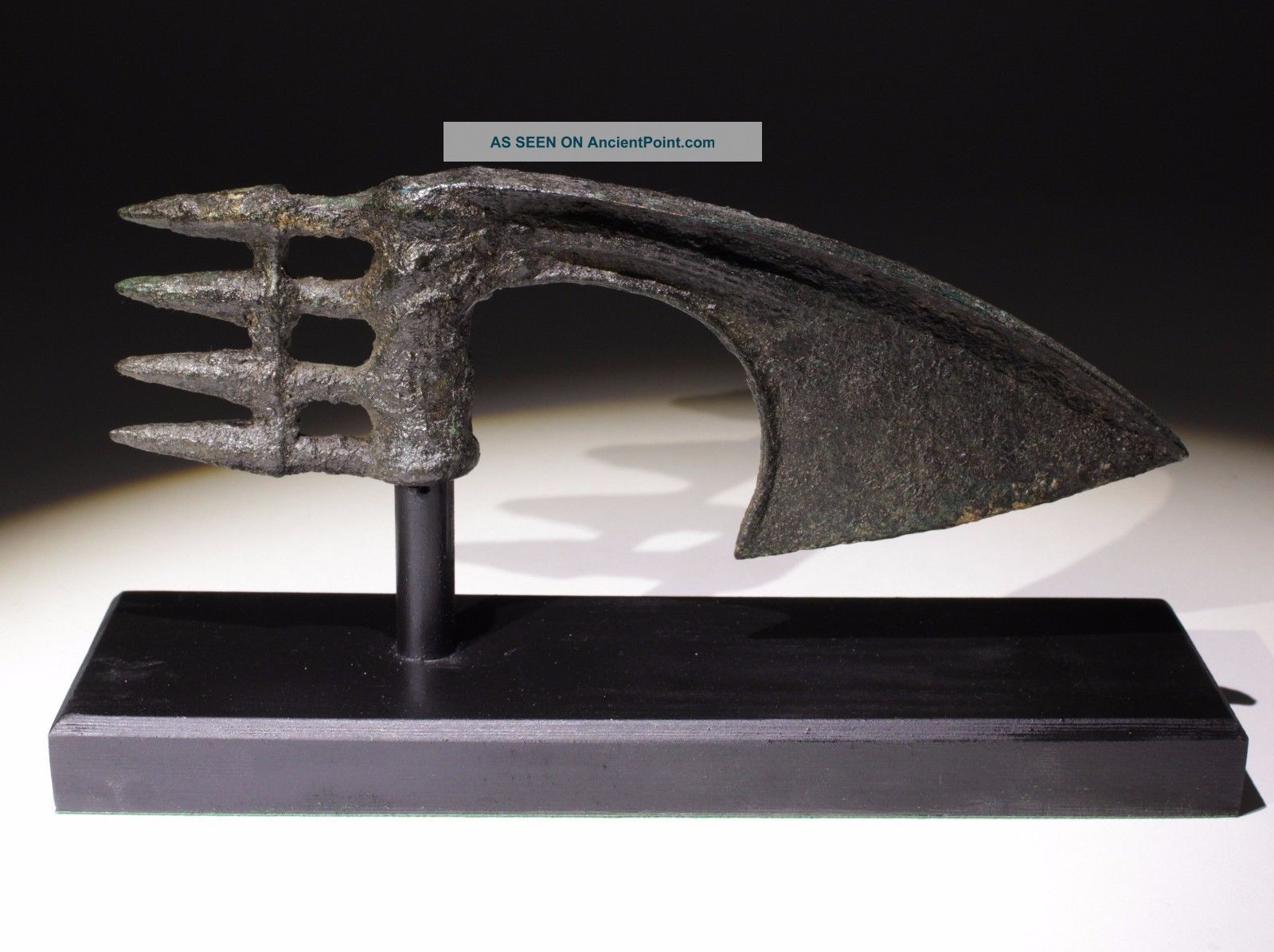 Quality Bronze Age Spike Butted Axe Head Luristan,  Persia 1200 - 1000bc 02 Near Eastern photo