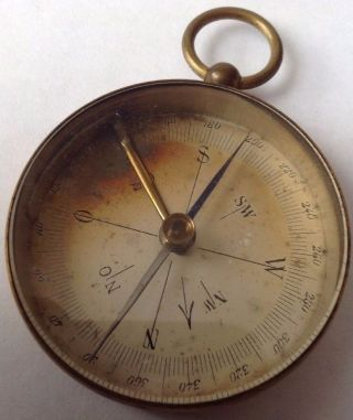 Antique C1900 ' S Pocket / Fob Compass. photo