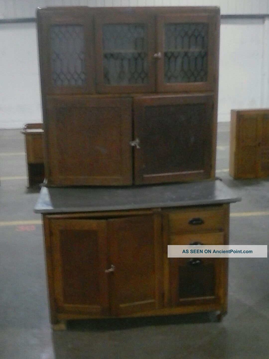 Antique Early 1900s,  Nappanee Furniture Hoosier Cabinet 1900-1950 photo