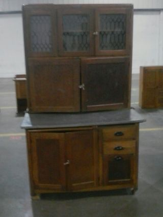 Antique Early 1900s,  Nappanee Furniture Hoosier Cabinet photo