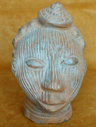 Clay Terracotta Ife Head Oni Yoruba Edo Nigeria 20th Century photo