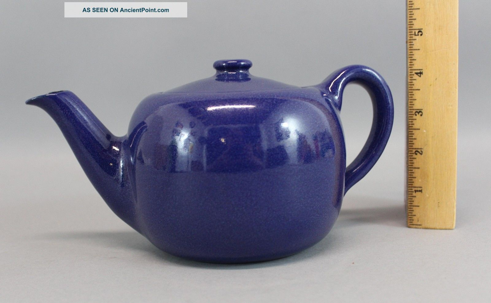 Antique Seg Saturday Evening Girls,  Art & Crafts,  Blue Art Pottery Teapot,  Nr Arts & Crafts Movement photo