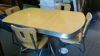 Vintage Formica Table In Yellow photo