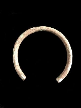 Viking Arm Ring Bracelet Solid Bronze 49 Gram Age 793 - 1066 Ad Baltic Region T photo