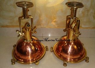 Nautical Marine Brass And Copper Deck Light With Wall Fitting 1 Pc photo