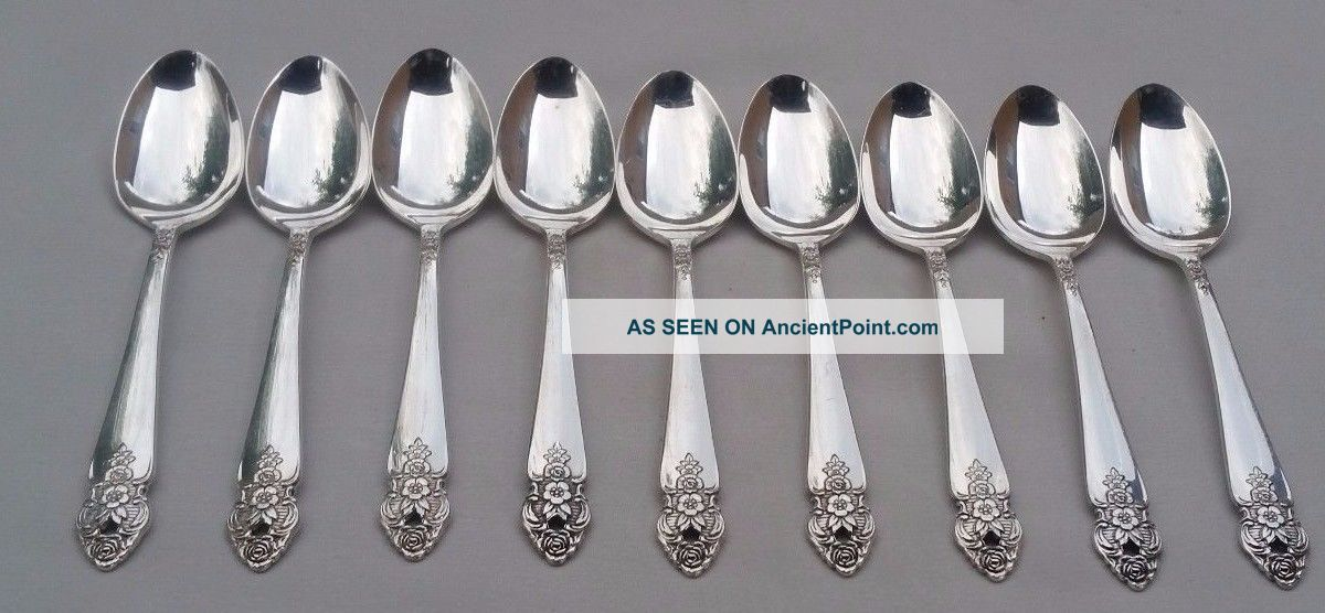 Oneida Distinction Prestige 9 Demitasse Coffe Spoons Silverplate Flatware & Silverware photo