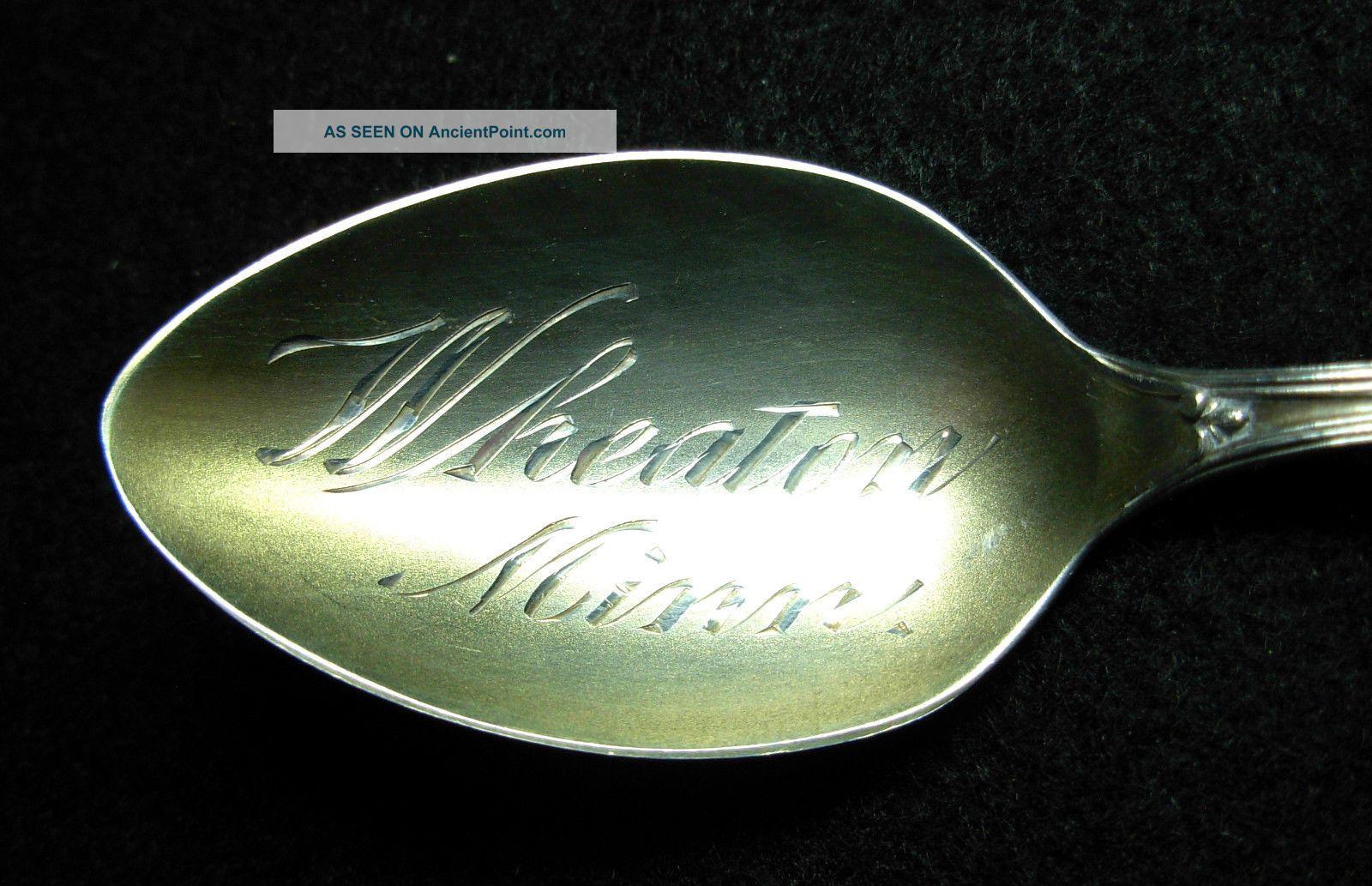 Wheaton,  Minnesota Sterling Silver,  Souvenir Spoon Souvenir Spoons photo