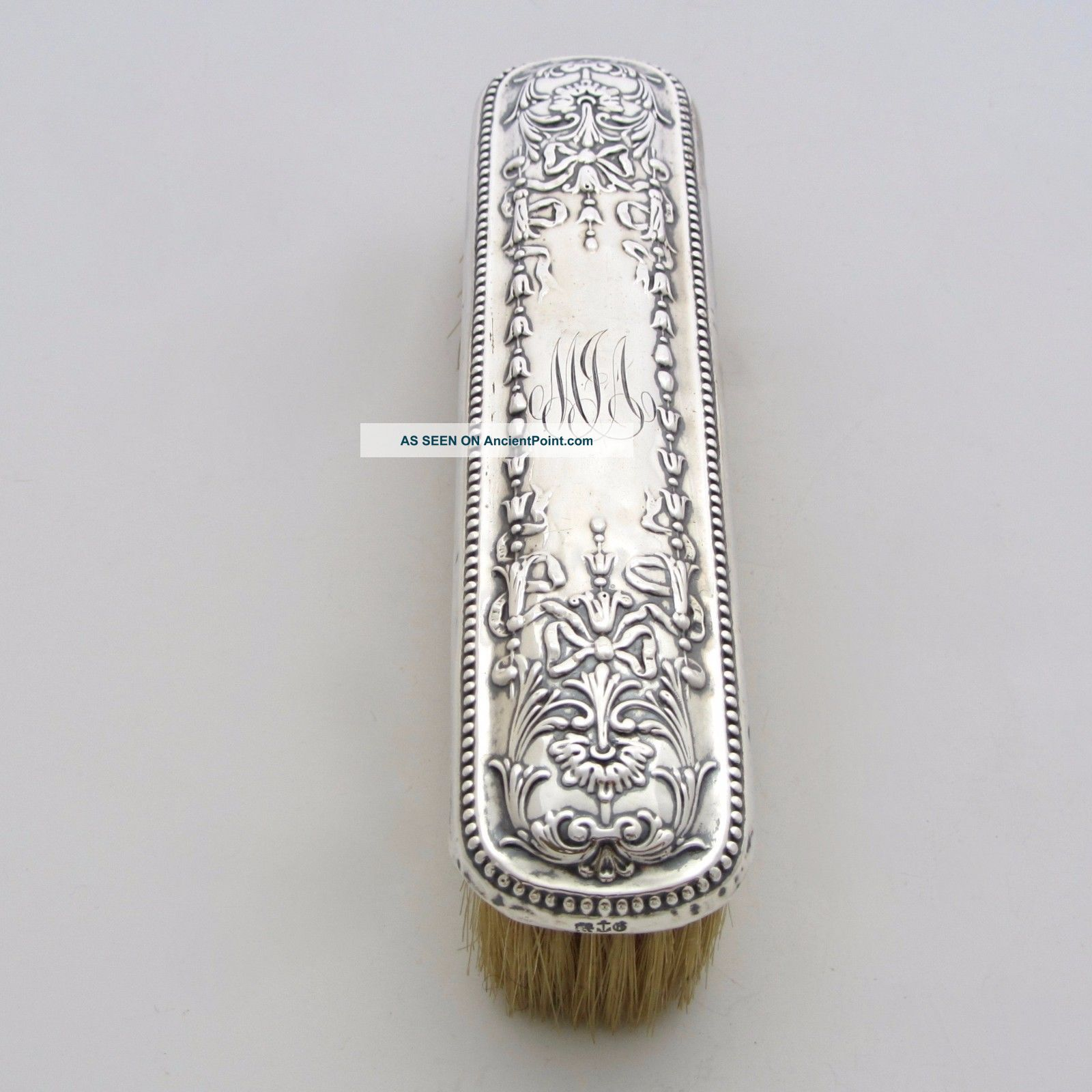 Antique Gorham Sterling Silver Clothes Brush Repousse 1890s Brushes & Grooming Sets photo
