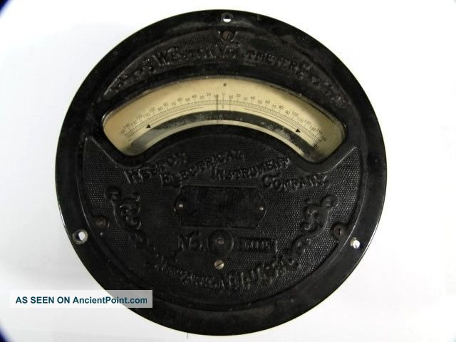Antique Large Weston Voltmeter No 64445 - 150 To,  150 Volts – Other Antique Science Equip photo
