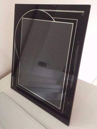 Vintage 1930's 40 ' S Art Deco Picture Frame Jazz Age Reverse Painted Large 12x10 photo