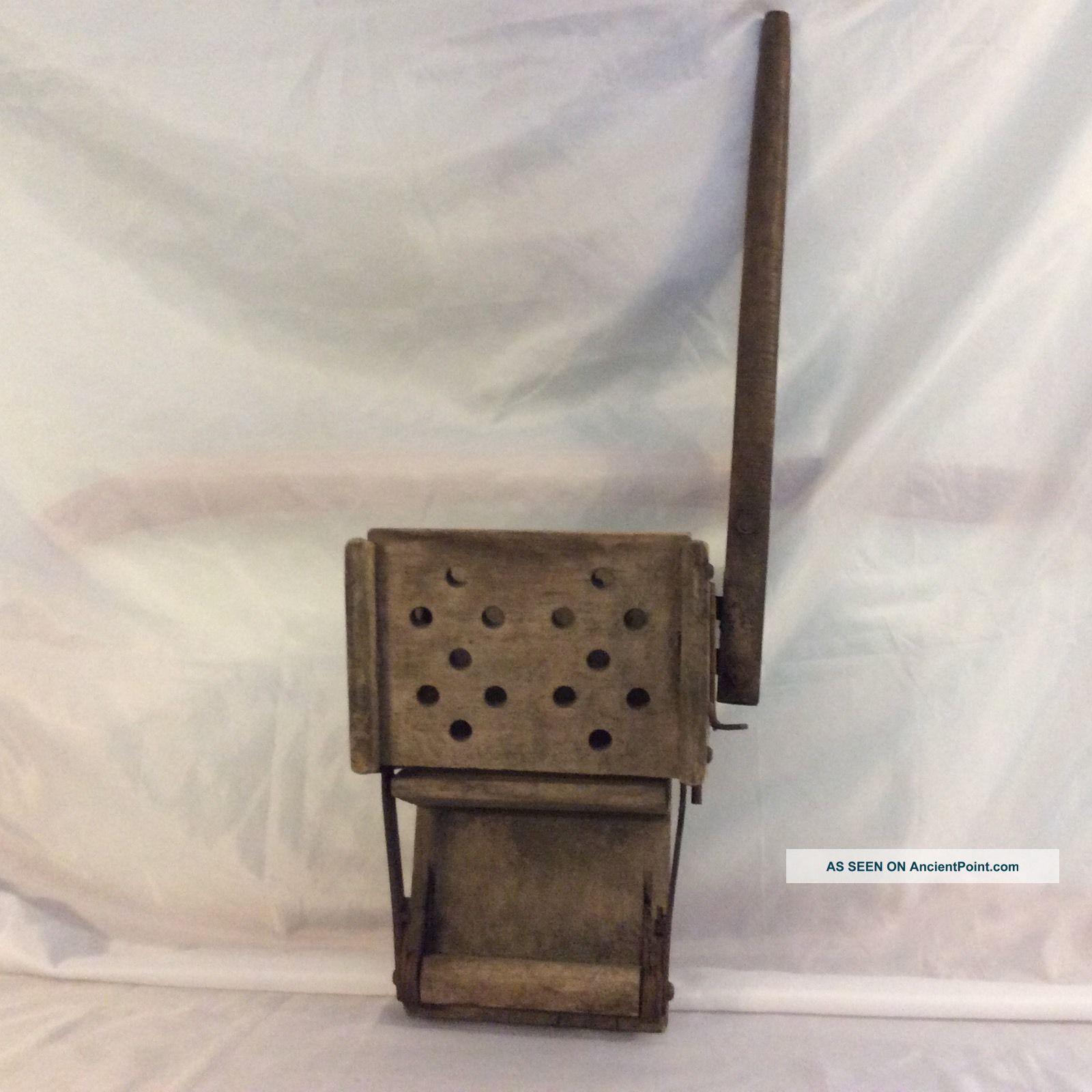 Antique Wooden Mop Wringer Primitive Domestic Appliance / Home Decor Primitives photo