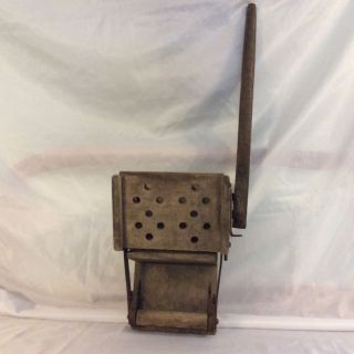 Antique Wooden Mop Wringer Primitive Domestic Appliance / Home Decor photo