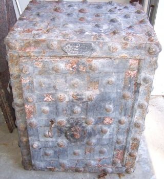 Vintage Hobnail Safe,  Vintage Decorative Safe,  Rustic Safe,  Man Cave Decor,  Salvage photo