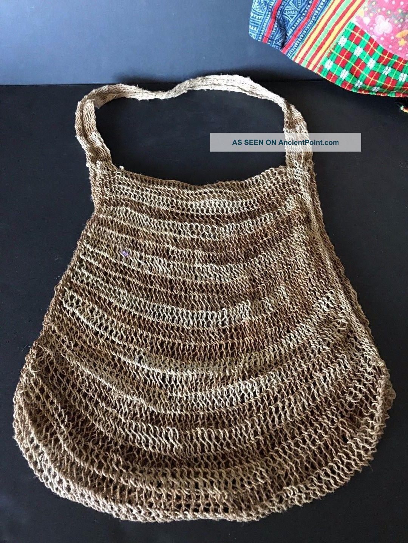 Vintage Papua Guinea Bush Twine Bilum Bag …beautiful Handmade Shoulder Bag Pacific Islands & Oceania photo